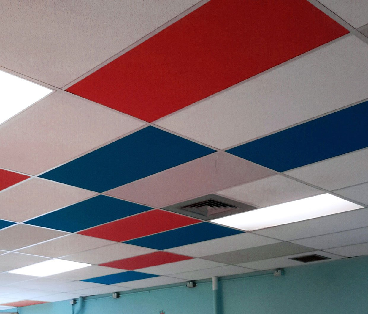 sound drop stick tiles insulating x acoustic ceilling on ceiling